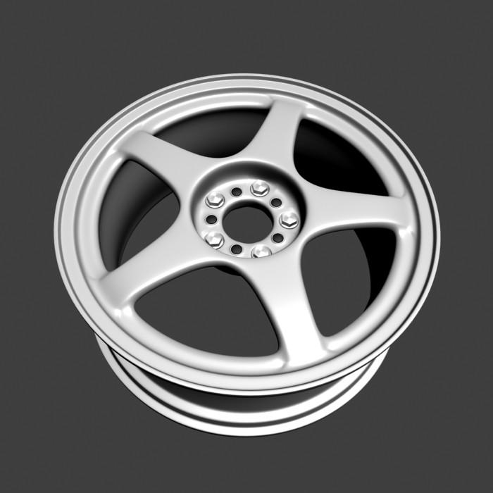 Car Rims 3d model rendered image