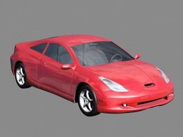 Red Sport Car 3d preview