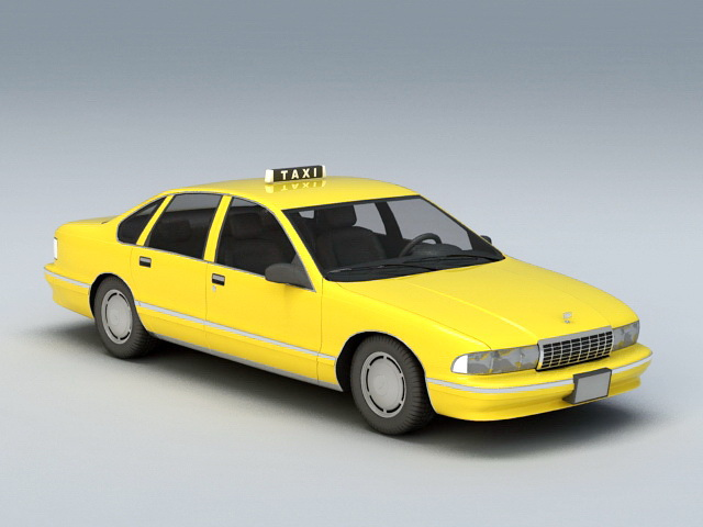 Chevrolet Caprice Taxi 3d model rendered image