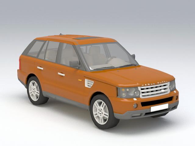 Land-Rover SUV 3d model rendered image