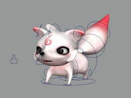 Anime Fox Rig 3d model
