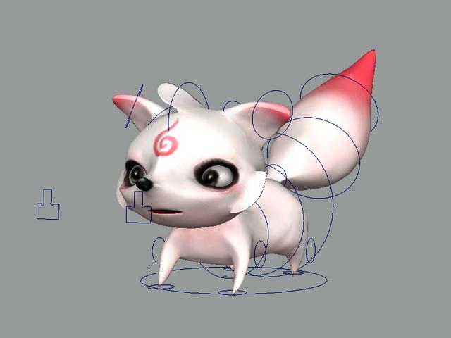 Anime Fox Rig 3d model Maya files free download - modeling 45501 on