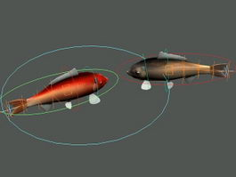 Fish Swimming Animation 3d model