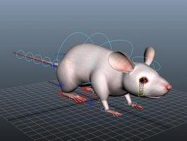 Cute Rat Rig 3d model
