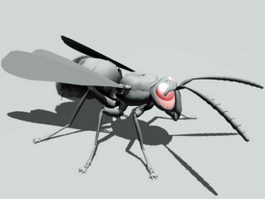 Ant with Wings 3d model