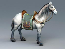 Horse Animated Rig 3d model