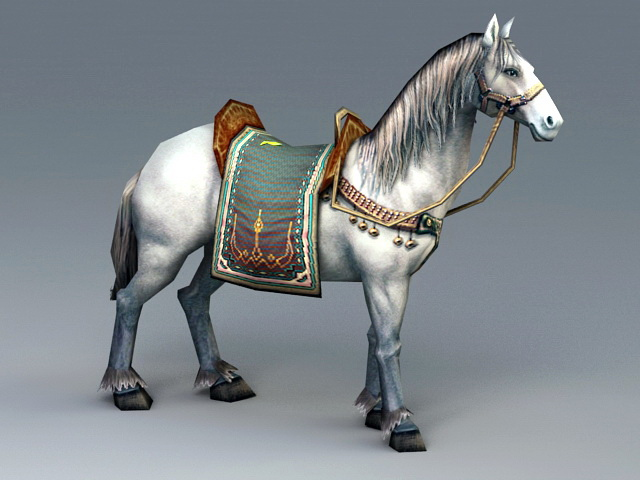 Horse Animated Rig 3d model rendered image