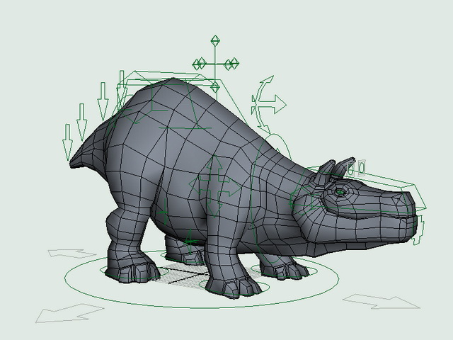 Bull Creature Rig 3d rendering