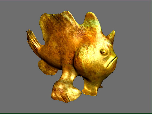 Frogfish 3d model rendered image