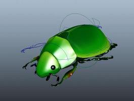 Green Beetle Rig 3d model
