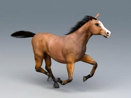Beautiful Running Horse 3d model