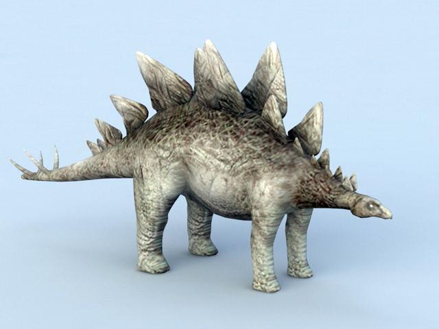 Stegosaurus Dinosaur 3d model rendered image