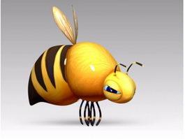 Fat Cartoon Bee 3d model
