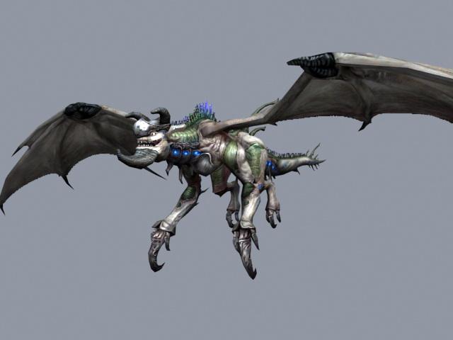 Drake Dragon 3d model rendered image