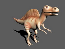 Spinosaurus Dinosaur Cartoon 3d model