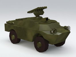 BRDM Amphibious Vehicle 3d model