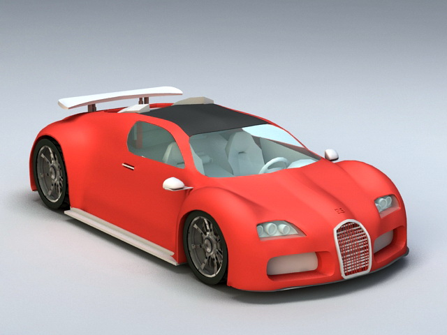 Bugatti Veyron 3d model rendered image