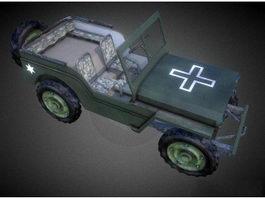WW2 Jeep 3d model
