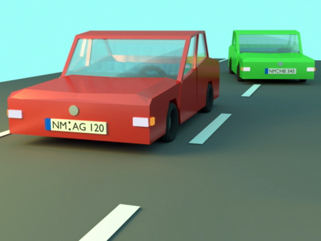 Low Poly Car 3d model rendered image