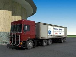 Trailer Box Truck 3d model