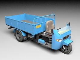 3 Wheeled Truck 3d model
