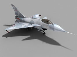 Chengdu J-10 Fighter Jet 3d model