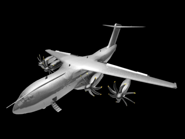 Airbus A400M 3d model rendered image