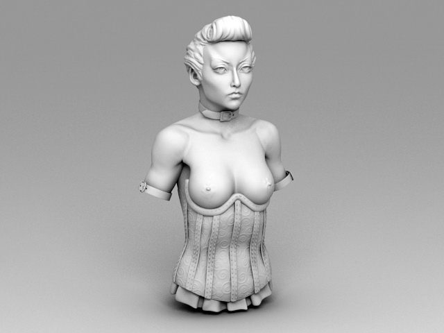 Bust of Noble Woman 3d model