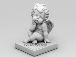 Cherub Angel Figurine 3d model