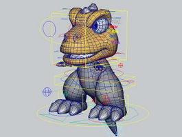 Cartoon Baby Dinosaur Rig 3d model