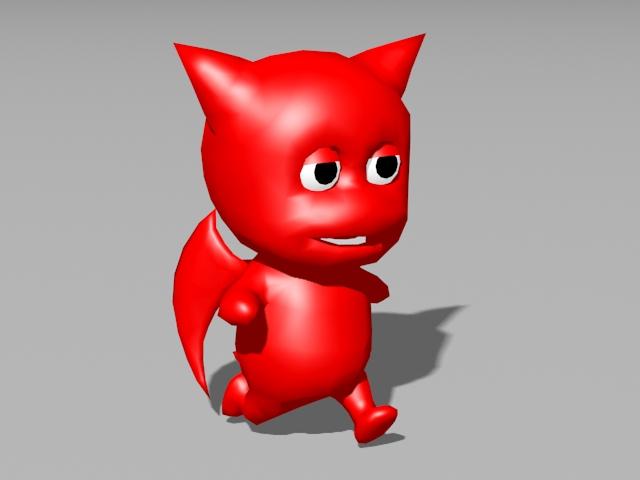 Little Devil Animated Rig 3d model rendered image