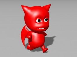 Little Devil Animated Rig 3d model