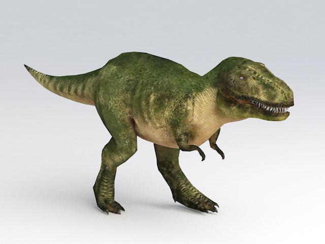 Animated Tyrannosaurus Rex 3d model rendered image