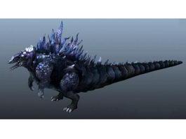 Godzilla Animated Rig 3d model