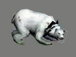 Polar Bear Animated Rig 3d model