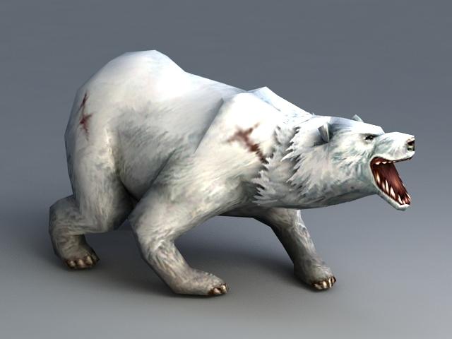 Polar Bear Animated Rig 3d model rendered image