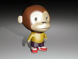 Monkey Piggy Bank 3d model