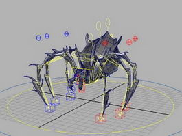 Spider Monster Rig 3d model
