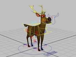 Cartoon Deer Rig 3d model