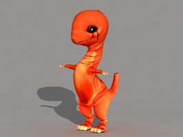 Baby Fire Dragon 3d model
