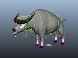 Cartoon Bull Rig 3d model