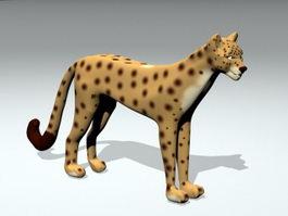 Beautiful Cheetah 3d model