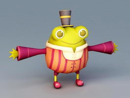 Anthropomorphic Frog 3d model