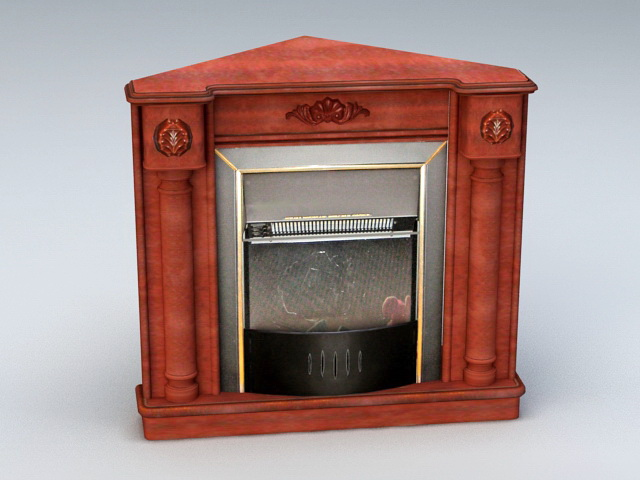 Rustic Corner Fireplace 3d model 3ds Max,Cinema 4D files free