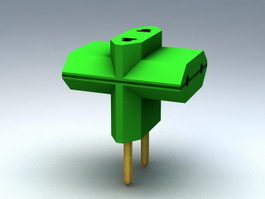 Power Plug Adapter 3d model