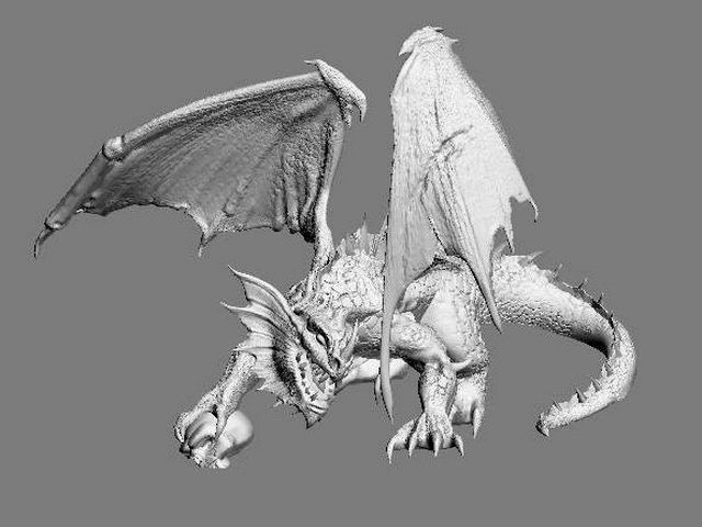Hell Demon Dragon 3d model 3ds Max,Zbrush files free download