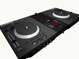 DJ Mixer Turntable 3d model