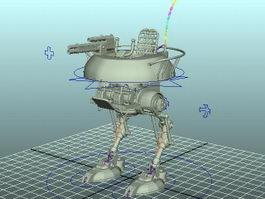 War Mecha Rig 3d model
