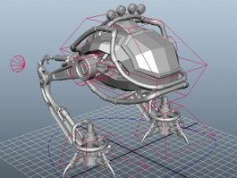 Combat Mech Rig 3d model