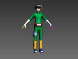Rock Lee Rig 3d model